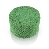 Puff pastilha crochê - verde - Stay puff