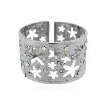 Pulseira Bracelete Estrela e Strass - Bijoulux