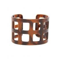 Pulseira Bracelete Quadriculada de Resina Tartaruga - Bijoulux