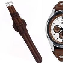f45baa65595 Pulseira em Couro Compatível com Relógio Fossil Ch2565 Tm 20mm - Oficina  dos relógios