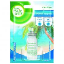 Purificador Bom ar Air Wick Click Spray Oceano tropical Refil -