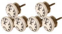 Puxador de Cerâmica Old Clock - Conjunto de 6 unidades - Maria Pia Casa