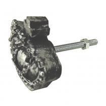 Puxador para Gavetas Coroa Preto e Prata - Resina - Resinas