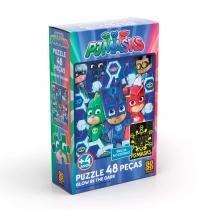 Puzzle 48 peças PJ Masks Glow in the Dark - Grow -