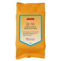 Q-10 Make up remover cleansing towelettes Purederm - Lenço Demaquilante - 30 Unidades - Purederm