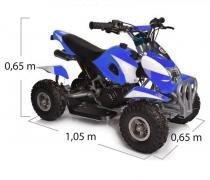 Quadriciclo 49cc BZ Bob Azul automático partida elétrica, farol, gasolina e óleo 2T Barzi Motors -