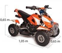 Quadriciclo 49cc bz bob laranja automático partida elétrica, farol, gasolina e óleo 2t barzi motors - Barzi motors