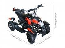 Quadriciclo 49cc BZ Bob Preto automático partida elétrica, farol, gasolina e óleo 2T Barzi Motors -
