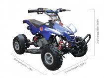 Quadriciclo 49cc bz dino azul automático partida a corda, gasolina e óleo 2tempos barzi motors -
