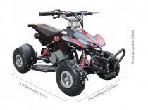 Quadriciclo 49cc BZ Dino preto automático partida a corda, gasolina e óleo 2 tempos Barzi Motors -
