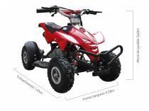 Quadriciclo 49cc bz dino vermelho automático partida a corda, gasolina e óleo 2tempos barzi motors -
