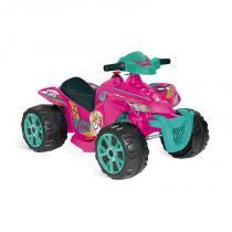 Quadriciclo Barbie EL 6V - Bandeirante