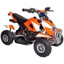 Quadriciclo Barzi Motors Bob à Gasolina e à Óleo - 49cc Velocidade Máxima 50km/h Laranja