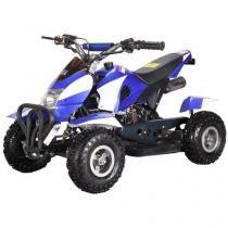 Quadriciclo Barzi Motors Bob à Gasolina e à Óleo - 49cc Velocidade Máxima 50km/h Preto Azul e Branco