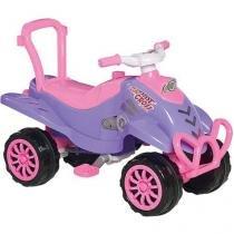 Quadriciclo Infantil a Pedal Cross Roxo e Rosa 973 Calesita -
