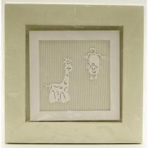 Quadro 20X20 Girafa E Macaco - ÚNICO - RAFINHA BABY