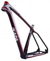 Quadro 29 MTB Carbono Kapa T-1000 Tam 17,5 Bco/Verm/Preto - Kapa bikes
