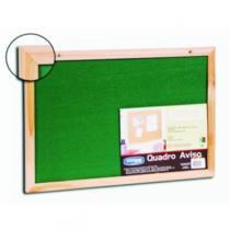 Quadro avisos mural recados feltro moldura madeira fotos 90x60cm cortiarte -