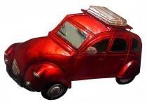 Quadro Carro 3d Para Parede Em Metal Espelhado para Decoração Vermelho Vintage (ENFT-6) - Braslu