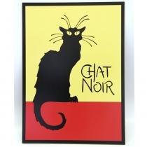 Quadro Chat Noir - Amarelo - Geton Concept