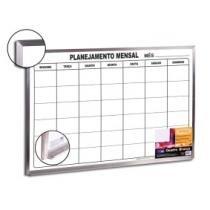 Quadro de Planejamento Mensal Aluminio 90CMX60CM - CORTIARTE - Cortiarte