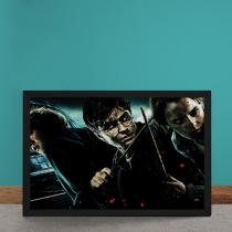 Quadro Decorativo Harry Potter E As Reliquias Da Morte - Preto - 50x40 - Gorila Clube