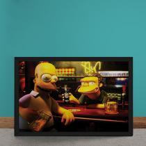 Quadro Decorativo Homer Moe Simpsons 3D - Amarelo - 50x40 - Gorila Clube