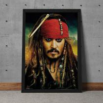 Quadro Decorativo Johnny Depp Jack Sparrow Piratas Do Caribe - Colorido - 25x35 - Gorila Clube