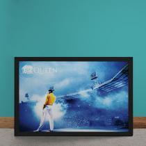 Quadro Decorativo Queen Freddie Mercury no Estadio - Azul - 50x40 - Gorila Clube