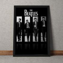 Quadro Decorativo The Beatles Capa - Preto - 25x35 - Gorila Clube