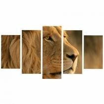 86dee8191835c7 Quadro Leão Selva Decorativo Animal - Quadros mais
