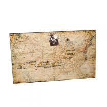 Quadro Mural de Fotos Decorativo de Parede com Mapa EUA - Maria pia casa