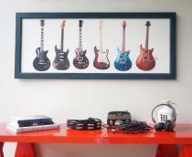 Quadro panorâmico - guitarras - Aluminarte