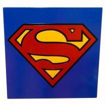Quadro Super Herói Super Homem - Azul - Geton Concept