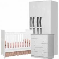 Quarto de Bebê completo Mimmus Baby/Amore Baby 3 portas - Bambinello -