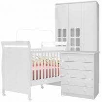 Quarto de Bebê Completo Sonho Encantado 3 Portas - Fiorello - Fiorello moveis