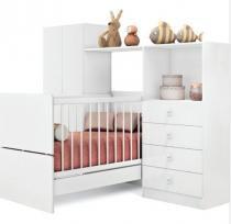 Quarto Infantil completo - Meu Fofinho - Branco - Art In Móveis