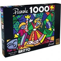 Quebra-Cabeça 1000 Peças Brazil Romero Britto - Grow