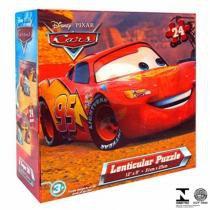 Quebra-Cabeça 3D Carros Mcqueen Disney 1422 Yellow - Yellow