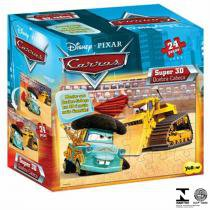 Quebra-Cabeça 3D Infantil Carros Mate 1422 Yellow - Yellow