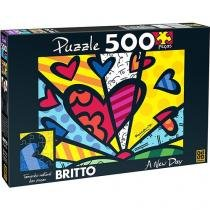 Quebra-cabeça 500 peças romero brito a new day 02870 grow - Grow