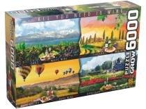 Quebra-cabeça 6000 Peças Puzzle Vinhos do Mundo - Grow