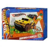 Quebra-Cabeça - Hot Wheels - Off Road - 24 Peças - Mattel - Mattel