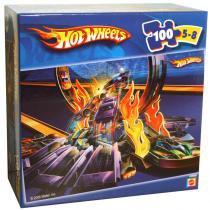 Quebra-Cabeça - Hot Wheels - Robô - 100 Peças - Mattel - Mattel