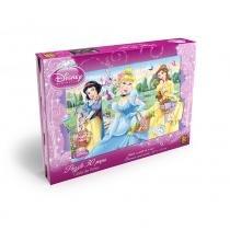 Quebra-Cabeça Princesas Disney Grow Cesta de Flores com 30 Peças - Grow