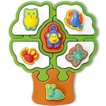 Quebra-Cabeça Puzzle Mania Árvore Formas Animaizinhos 813 - Calesita - Calesita