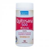 Quitosana 500 com Acerola - 500mg - 90 comprimidos - Stem pharmaceutical