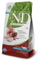 Ração Farmina ND Grain Free Feline Frango para Gatos Castrados - 400 g - Nd - grain free