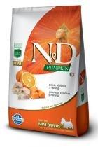 Ração Farmina ND Pumpkin Peixe para Cães Adultos de Raças Pequenas - 2,5 kg - Nd - pumpkin