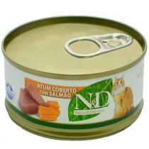 Ração Farmina ND Úmida de Atum e Salmão para Gatos - 70 g -